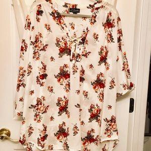 ✨like new Floral Chiffon blouse